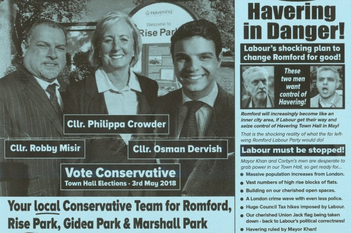 Havering racist election leaflet
