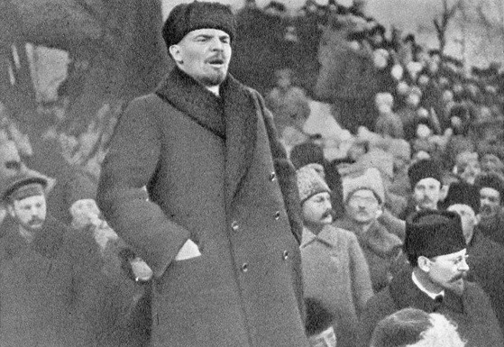 Lenin speaking in 1919 Image Goldshtein G