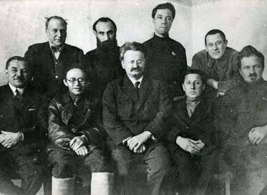 Trotsky and the Left Opposition in 1927 Image public domain