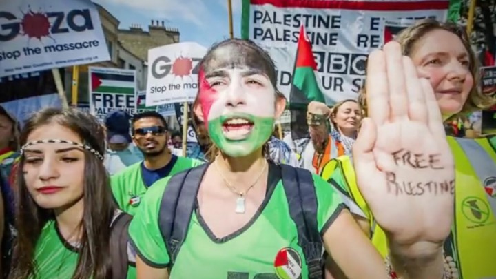 Palestine liberation march Image Salaam Shalom