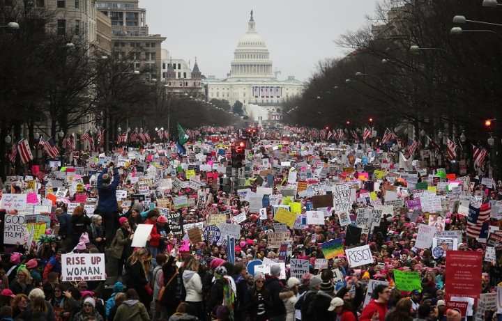 Womens march in America Image own work