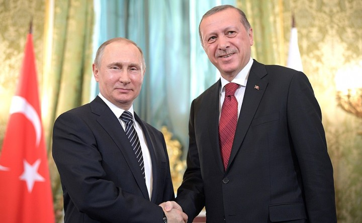 Erdogan and Vladimir Putin Image KremlinRU