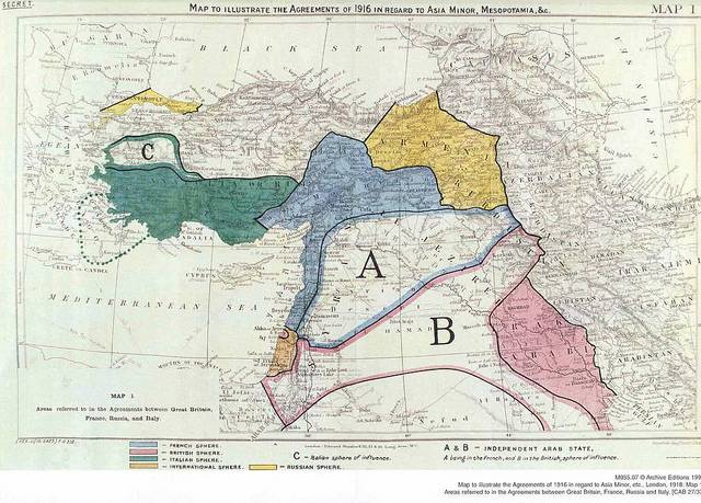 WWI Part Fourteen The Middle East and the SykesPicot treaty