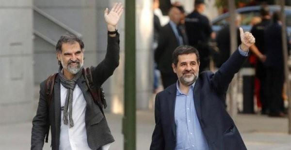 Jordi Sánchez and Jordi Cuixart Images Wikimedia Commons