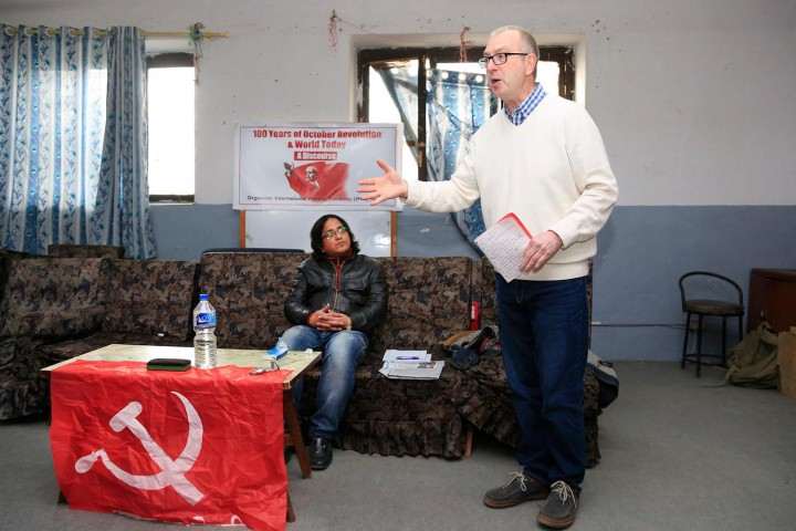 Comrade Rob speaking about October 1917 Image own work