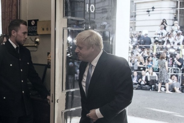Boris entering number 10 Image Socialist Appeal