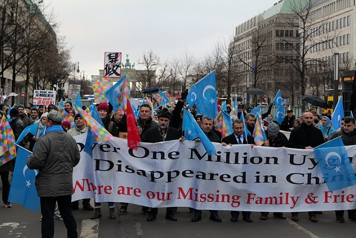 emonstration for the rights of the Uyghurs in Berlin Image Leonhard Lenz