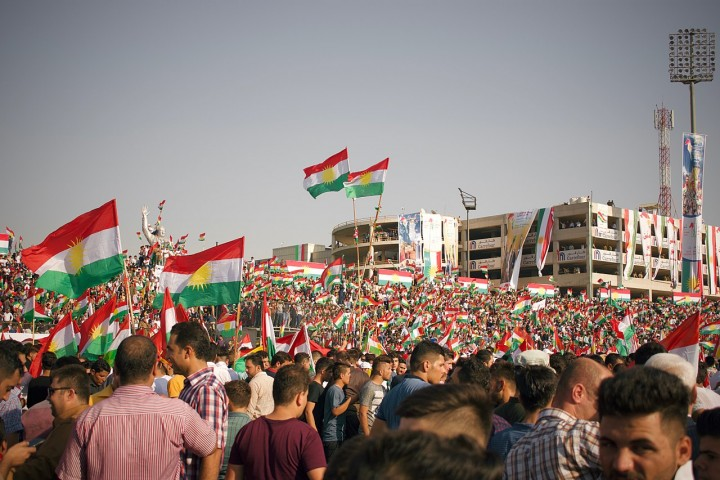 Kurdish independence rally Image Levi Clancy