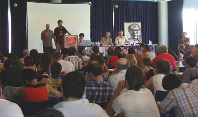 Venezuelan comrade speaking at congress