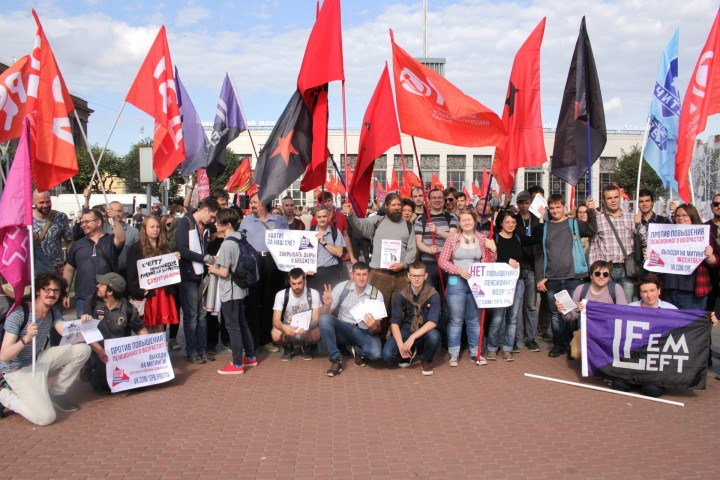 Demonstrators St Petersburg 2 Sept Image own work