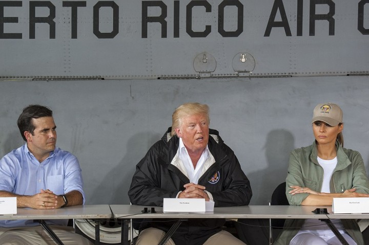 President Trump Visits Puerto Rico Image public domain