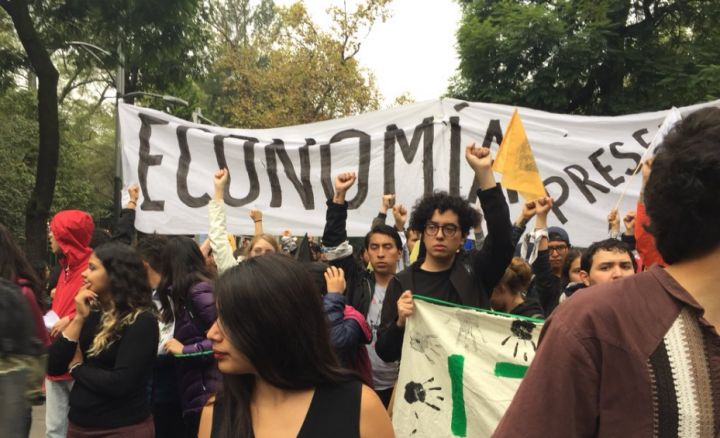 Mexico protest 2018 Image Twitter Hillary Goodfriend