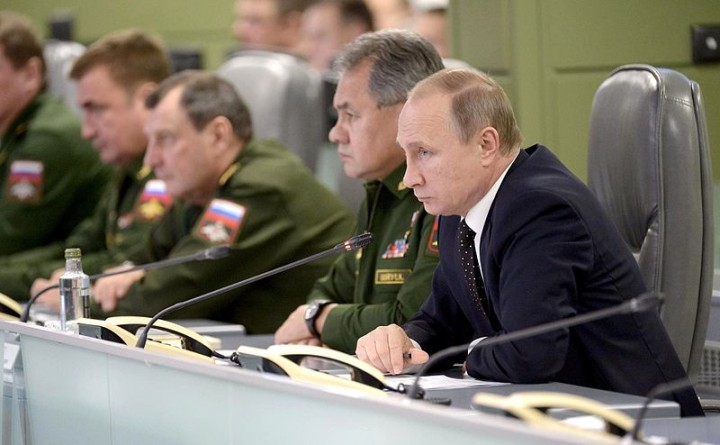Meeting on Russias Armed Forces actions in Syria Image Russian Presidential Press and Information Office