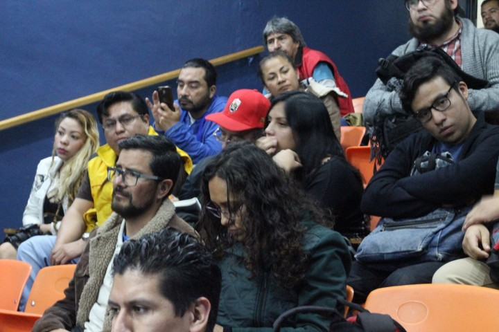 Youth workers and activists all attended the talk Image La Izquierda Socialista