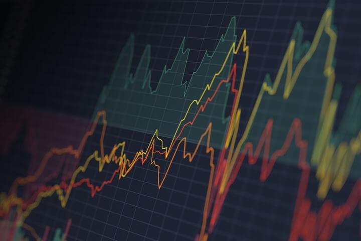 疫情持續惡化但股市仍然上揚。//圖片來源:公共領域