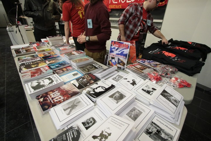 Fightback comrades selling materials Image own work