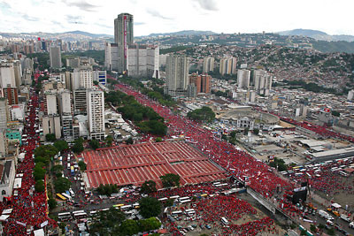 Massive demonstration in Caracas