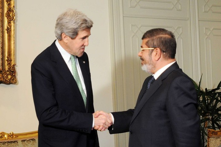Secretary Kerry Meets With Egyptian President Mohammed Morsi Image U.S. Department of State