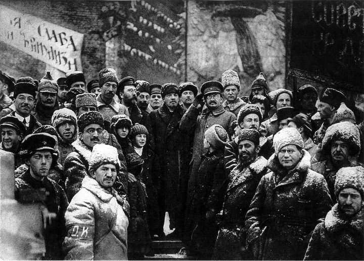 19191107 lenin second anniversary october revolution moscow