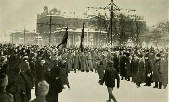 Demonstration in Nevsky Prospekt Feb1917