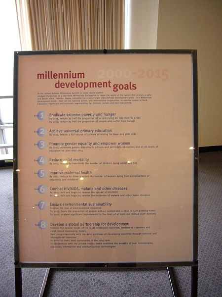 Millennium Development Goals UN Headquarters New York City New York Image Babucke