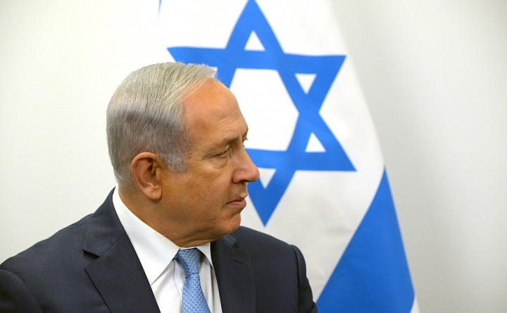 Netanyahu with flag Image Kremlin