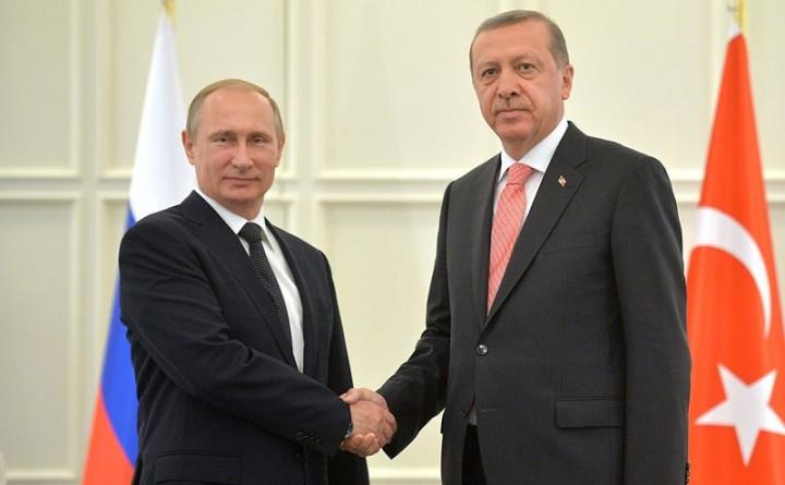Vladimir Putin and Recep Tayyip Erdoğan Пресс служба Президента Российской Федерации