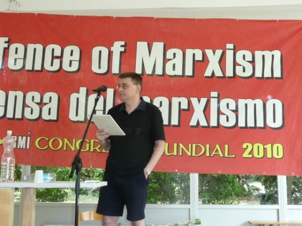 Comrade Graham Day from New Zealand.
