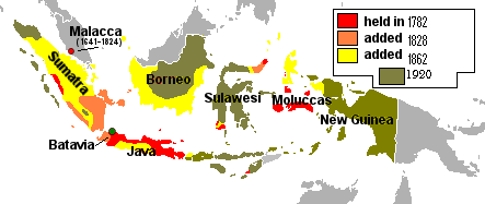 Evolution of the Dutch East Indies. Illustration: Red4tribe