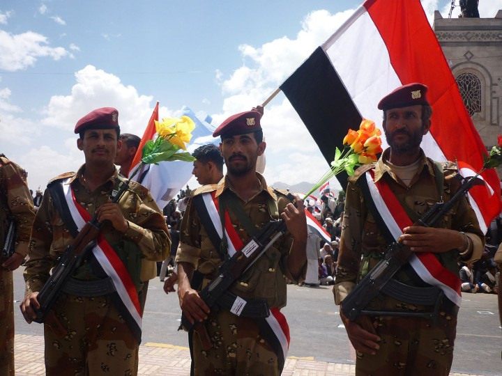 Yemeni soldiers from the 1st Armoured Division Image public domain