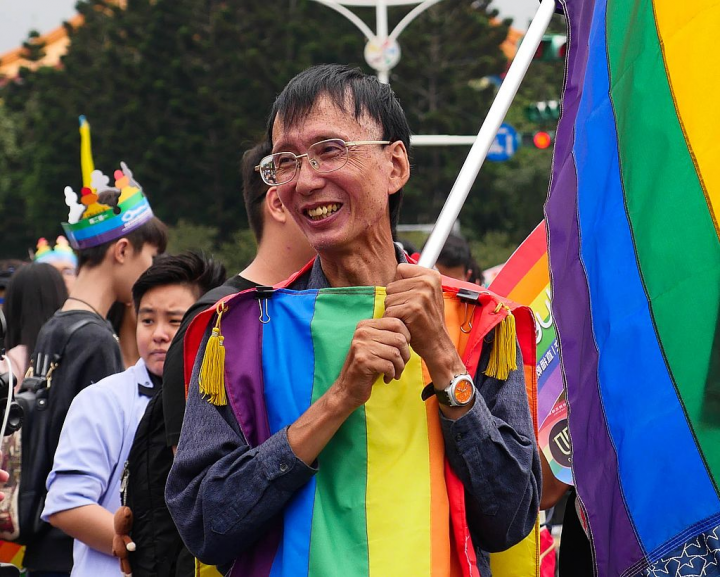 Chi Chia wei one of the first openly gay people in Taiwan and longtime LGBTQ rights activist image public domain