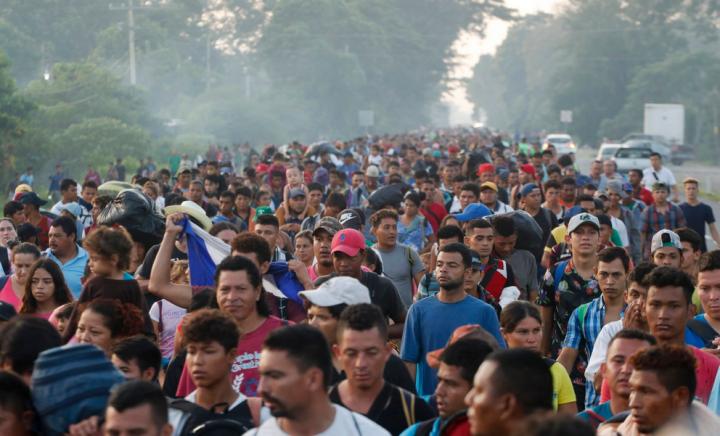 Migrant caravan Image AJ plus