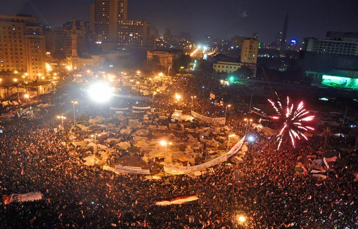 Tahrir Square on February11 Image Jonathan Rashad