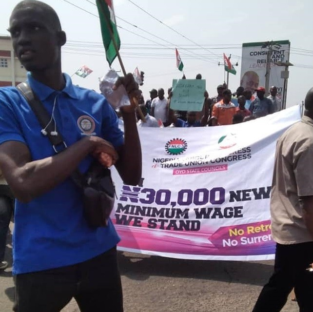 Nigeria minimum wage strike 2 Image CWYA