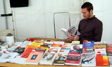 Book stall of the IMT in the Latin American area
