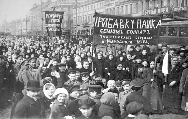 russian revolution protest 1917