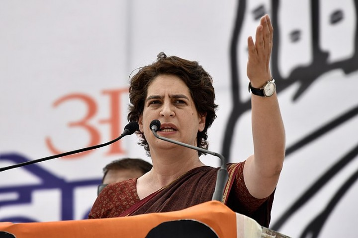 800px Priyanka Gandhi is during her public speech Image Rahul S Ravi