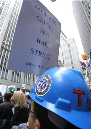 Workers Protest on Walll Street