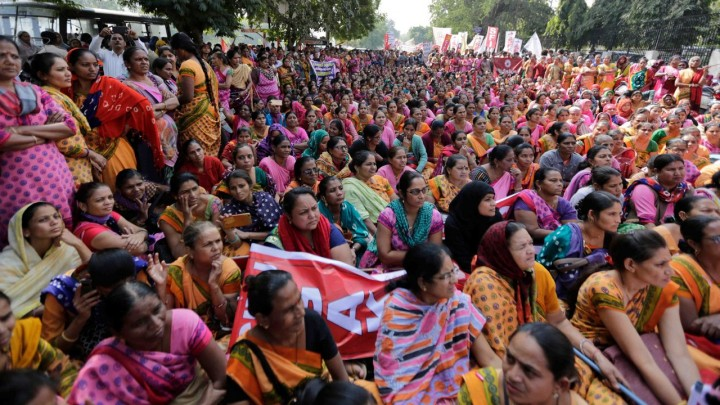 India general strike women Image Redfish
