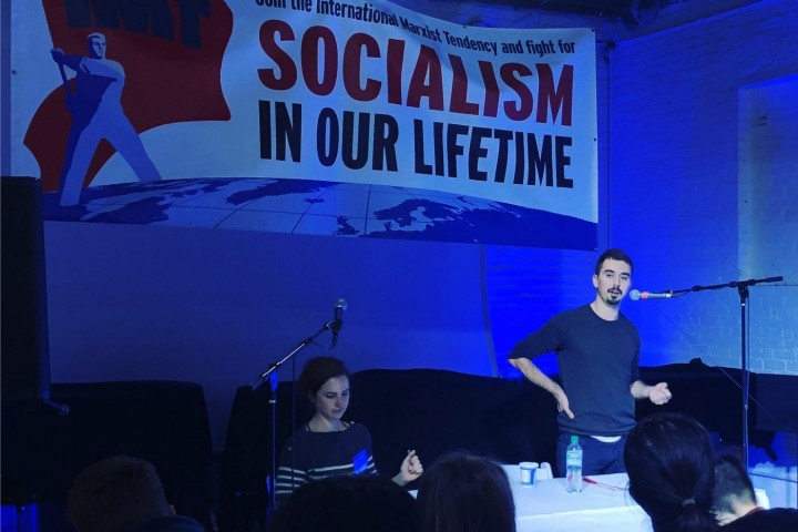 In his presentation Antonio Balmer stressed the need to build a revolutionary party with the correct ideas and program ahead of big upheavals Image Socialist Revolution