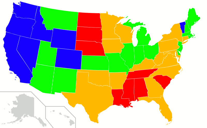 Marxism And Religion In The US - Religions in the us map
