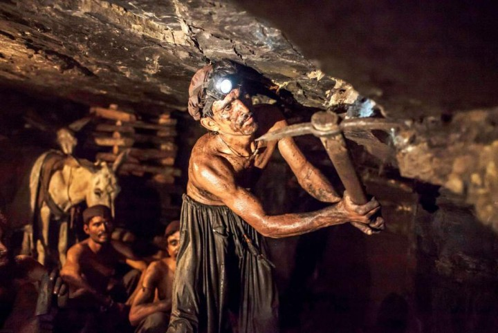 Coalmine workers in Pakistan