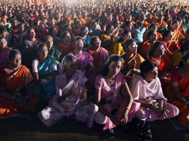 India voters at a BJP rally Flickr Al Jazeera English
