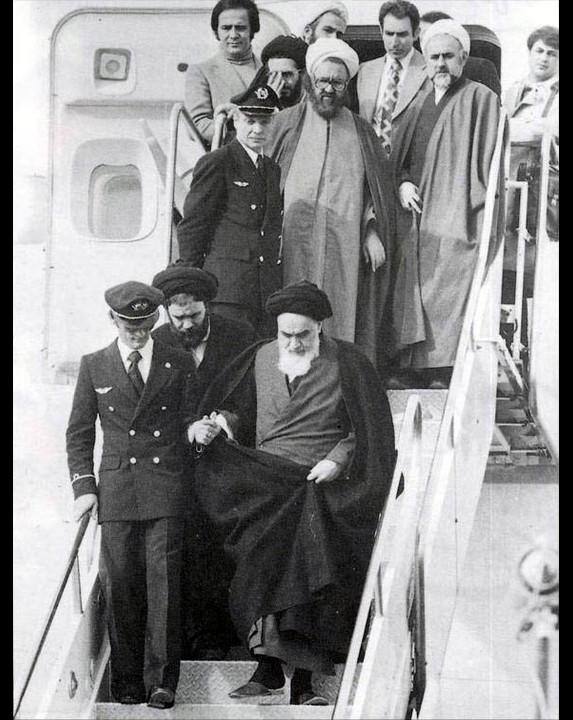 Arrival of Ayatollah Khomeini on February 1, 1979