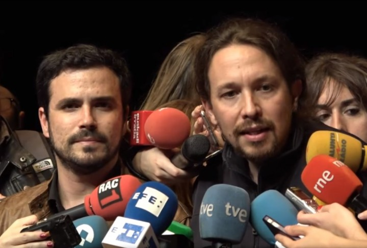 Alberto Garzón y Pablo Iglesias Image Podemos