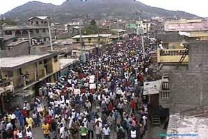 Demonstration in Haiti