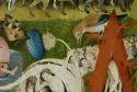The Garden of Earthly Delights by Bosch bird feeding humans