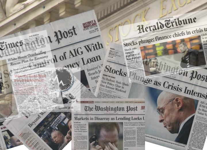 2008 crisis montage Pingnews