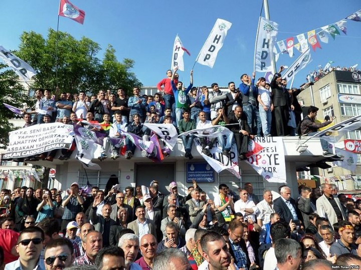 Peoples Democratic Party electoral rally 2015 HDP Image Salih Turan