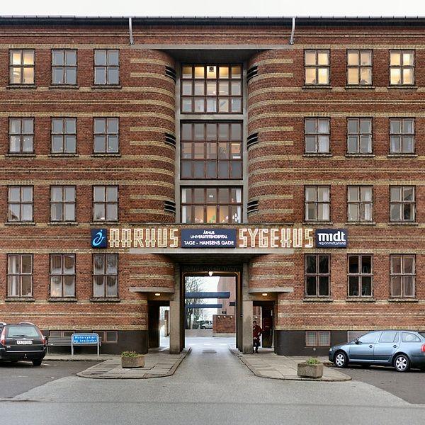 Entrance to Amtssygehuset in Aarhus Image Villy Fink Isaksen